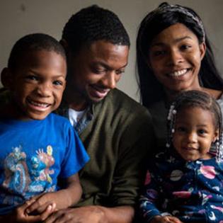 LeRon Davis and his family