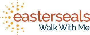 Easterseals written in orange with the words Walk With Me below