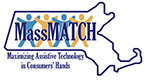 MassMatch logo. MassMatch. Maximizing assistive technology in consumers hands.