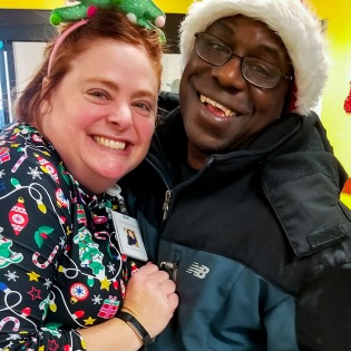 Chrissy Perkins from Easterseals with Demetrius