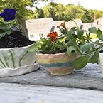 Pottery in Camp Fairlee garden