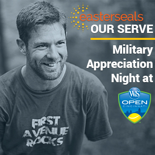 Noah Galloway, Keynote Speaker at Easterseals 2019 Our Serve at the Western and Southern Open