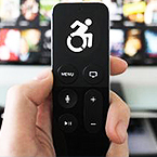 Remote with disability symbol