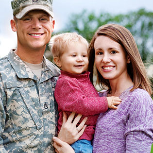 Picture of a military family