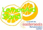 graphic of lemon in half with words LemonAid Stand across them and Easterseals Rehabilitation Center logo in lower right