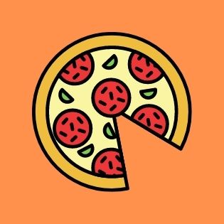 graphic of a pizza with a slice removed