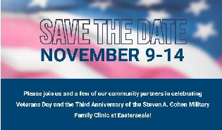 Celebrating Veterans Day and the 3rd Anniversary of the Cohen Clinic at Easterseals