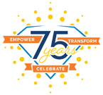 graphic of 75th anniversary logo for the Easterseals Rehabilitation Center