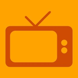 graphic of an orange television on a light orange background