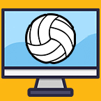 Volleyball on a computer screen