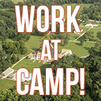 View of Camp Fairlee with words that say Work At Camp