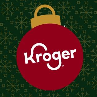 Kroger logo in Christmas ornament