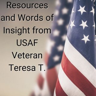 American flag with blurred beige background. Text reads
