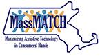 MassMatch logo. MassMatch. Maximizing assistive technology in consumers hands.