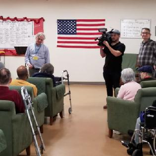 WUSA9's Great Day Washington Films a Segment in the Harry and Jeanette Weinberg Inter-Generational Center.