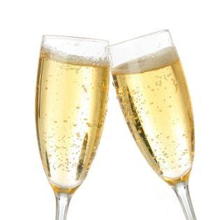 champagne glasses toasting