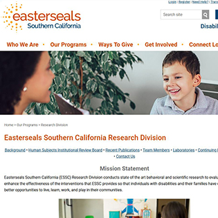 The Easterseals Research Division Website Homepage