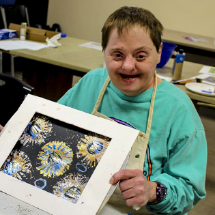 Participant in the Easterseals Opening Minds Through Art Program