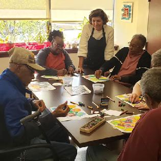Art with a Heart at The Edward N. and Della L. Thome Adult and Senior Care Center