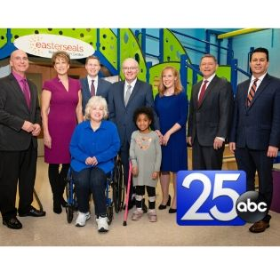photo of Easterseals Telethon hosts and Ambassadors with ABC 25 logo