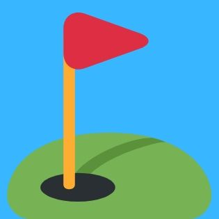 graphic of a golf flag in hole
