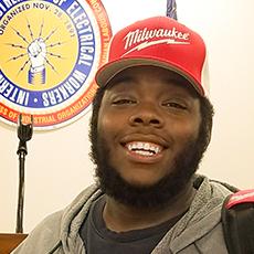 Elijah Allen, participant in Easterseals workforce training program