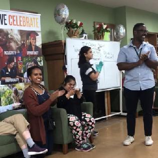 We're celebrated the 100th Anniversary of Easterseals with an Ice Cream Social in The Morris and Gwendolyn Cafritz Adult Day Services in Silver Spring, Maryland!
