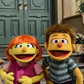 Sesame Street Characters Julia and friend