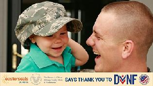 Easterseals DC MD VA and The Steven A. Cohen Military Family Clinic thank you message to the Disabled Veterans National Foundation .