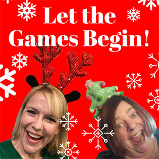 Christina and Chrissy from Easterseals with text: Let the Games Begin!