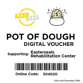 Azzip Pizza POT OF DOUGH digital voucher 2021