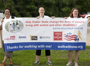 Easterseals Walk With Me participants