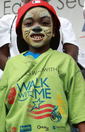 Walk With Me participant with fun face paint!