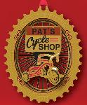 "Click here for more information about City of Albany 2013 Ornament, ""Pat's Cycle Shop"""